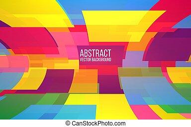 mosaic., kvadraterer, poster., banner, farverig, baggrund., abstrakt, dynamik, illustration, forme, website, vektor, konstruktion, trendy, perspective.