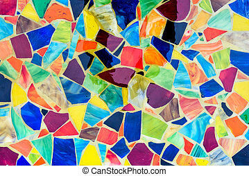Mosaic made of Colorful pieces from tiles