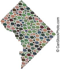 Mosaic Map of Washington DC of Stones