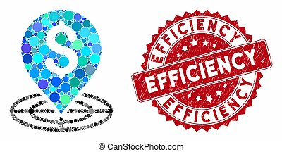 Mosaic Money Target with Grunge Efficiency Seal