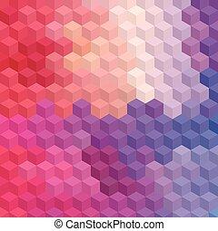 mosaic., multicolore, cubique