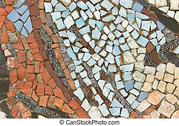 Mosaic of colorful stone as background