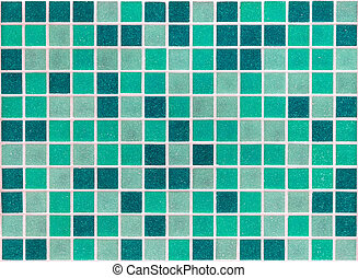 mosaic of small square stone slabs green