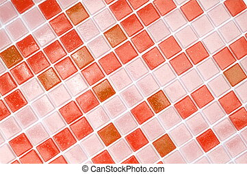 mosaic of tiles in the bathroom as a background