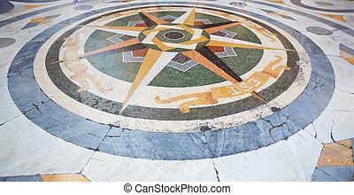 Mosaic of Umberto I gallery in Naples