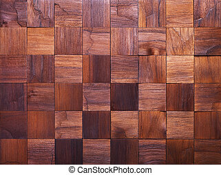 Mosaic of wood pieces, background