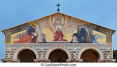 Mosaic on the Curch of All Nations in Jerusalem