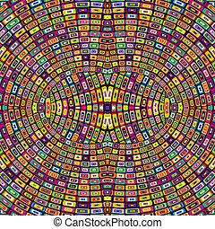 Mosaic optical background