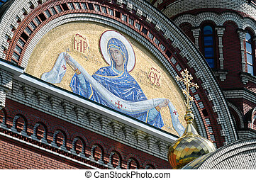 Mosaic panel at the Cathedral of the Annunciation of the Blessed Virgin Mary.