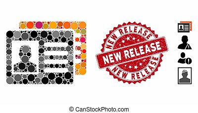 Mosaic Patient Accounts Icon with Textured New Release Stamp