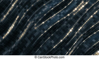 Mosaic pattern abstract wave background loop