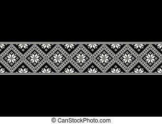Mosaic tiles, ethnic ornament, embroidery motif, abstract carpet seamless texture vector illustration