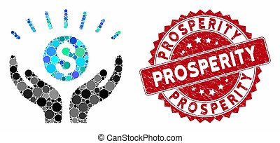 Mosaic Prosperity with Textured Prosperity Stamp