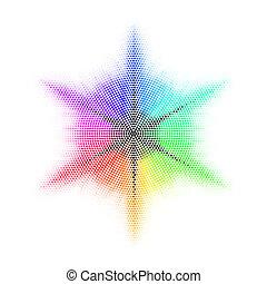 Mosaic. Rainbow.