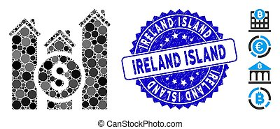 Mosaic Realty Price Charts Icon with Distress Ireland Island Seal