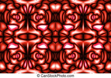 Mosaic red fantasy