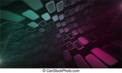Mosaic Rise Pink Green - Beautiful 3d perspective view of...