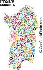 Mosaic Sardinia Map of Gear Items - Mosaic technical...