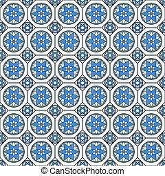 Mosaic seamless pattern in arabian style.