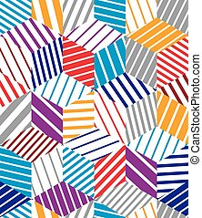 Mosaic seamless pattern, simple geometric vector background.