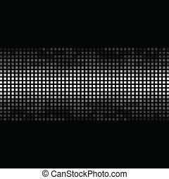 Mosaic structure on a black background. A vector illustration