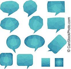 Mosaic Talk Balloons