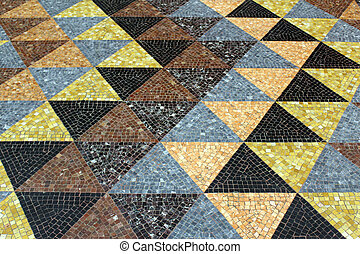 Mosaic tessellation texture on the floor
