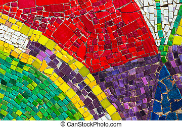 Abstract of colorful mosaic tile