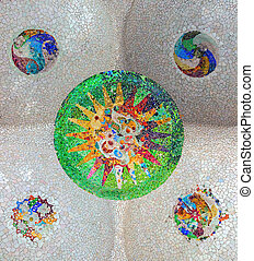 mosaic tile ceramic decoration of ceiling
