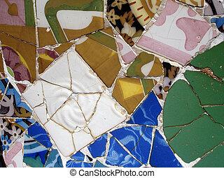 Mosaic tile pieces