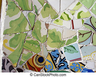 Mosaic tile pieces