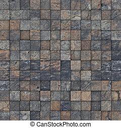 mosaic tile worn old wall floor