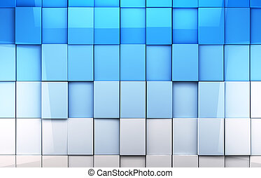 Mosaic tiles background in blue toned