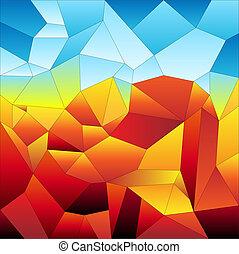 Mosaic tiles-futuristic - Mosaic tiles background, colorful...