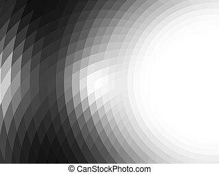 mosaic tiles - composition with grid, tiles, gradient effect