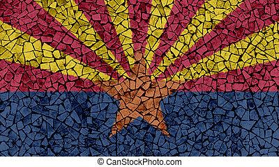 Mosaic Tiles Painting of Arizona Flag