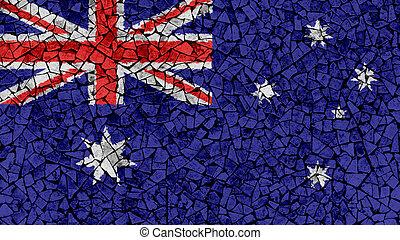 Mosaic Tiles Painting of Australia Flag