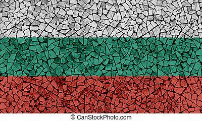 Mosaic Tiles Painting of Bulgaria Flag