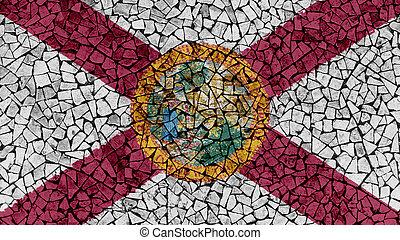 Mosaic Tiles Painting of Florida Flag