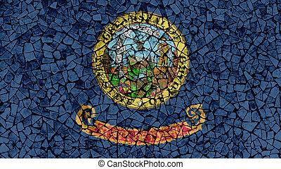 Mosaic Tiles Painting of Idaho Flag