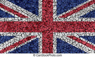 Mosaic Tiles Painting of UK Union Jack Flag