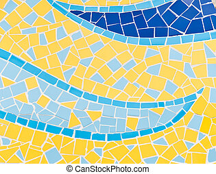 Mosaic Tiles - The colorful broken tiles (trencadis) pattern...