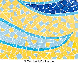Mosaic Tiles - The colorful broken tiles (trencadis) pattern...
