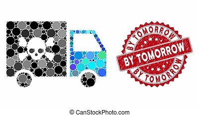 Mosaic Toxic Transportation Car with Distress By Tomorrow Seal