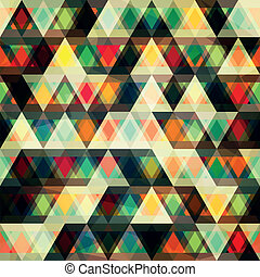 mosaic triangles seamless pattern