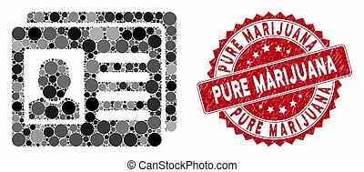 Mosaic User Account Cards with Textured Pure Marijuana Seal