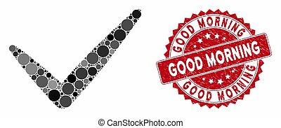 Mosaic Valid with Grunge Good Morning Stamp