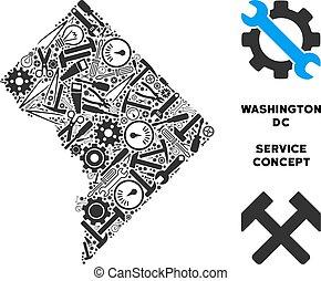 Mosaic Washington DC Map of Service Tools
