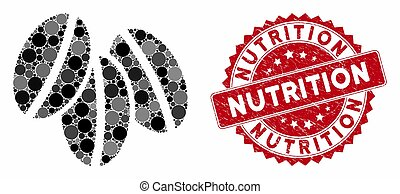 Mosaic Wheat Seeds with Textured Nutrition Stamp