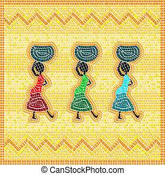 mosaico, africano